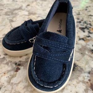 Baby Gap Newborn Blue Suede Shoes